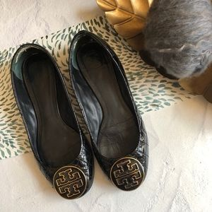 Tory Burch Black Quilted Ballet Flats 7M
